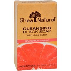 HGR1518190 - Shea NaturalBlack Soap - Shea Butter Cleansing Grapefruit Pomelo - 5 oz