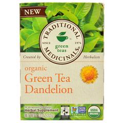 HGR1522200 - Traditional MedicinalsTea - Organic - Green Tea - Dandeln - 16 ct - 1 Case