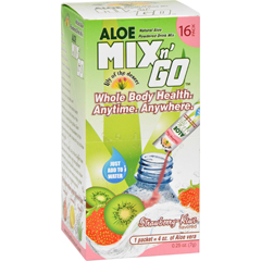 HGR1523802 - Lily Of The DesertLily of the Desert Aloe Drink Mix - Mix N Go Strawberry Kiwi - 16 Packets
