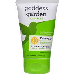 HGR1524115 - Goddess GardenOrganic Sunscreen - Natural SPF 30 Lotion - 3.4 oz