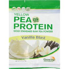 HGR1527001 - Growing NaturalsPea Protein Powder - Vanilla Blast Single Serve Packet - .9 oz - Case of 12
