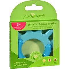 HGR1529288 - Green SproutsTeether - Cornstarch - Hand - Aqua - 1 Count