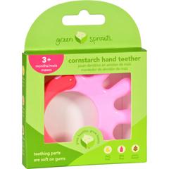 HGR1529304 - Green SproutsTeether - Cornstarch - Hand - Pink - 1 Count