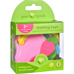HGR1529338 - Green SproutsTeething Keys - Unisex - 3 Months Plus - 1 Count