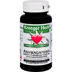 HGR1531037 - Kroeger HerbAshwagandha - Complete Concentrate - 60 Vegetarian Capsules