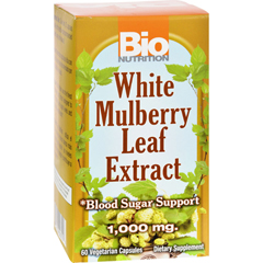 HGR1532944 - Bio NutritionInc White Mulberry Leaf Extract - 1000 mg - 60 Veg Capsules