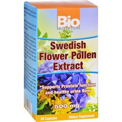 HGR1532951 - Bio NutritionInc Swedish Flower Pollen Extract - 500 mg - 60 Veg Capsules