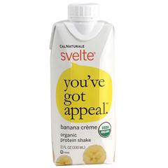 HGR1533652 - SvelteProtein Shake - Organic - Banana Creme - 11 fl oz - Case of 8