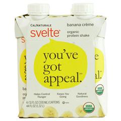 HGR1533660 - SvelteProtein Shake - Organic - Banana Creme - 11 fl oz - Case of 24