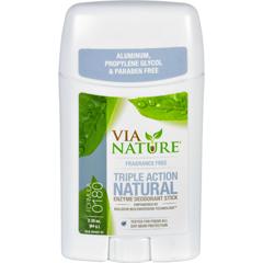 HGR1533769 - Via NatureDeodorant - Stick - Fragrance Free - 2.25 oz