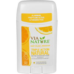 HGR1533793 - Via NatureDeodorant - Stick - Sweet Orange Lemongrass - 2.25 oz
