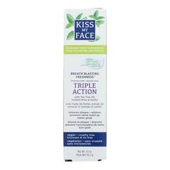 HGR1542612 - Kiss My FaceToothpaste - Triple Action - Fluoride Free - Paste - 4.5 oz