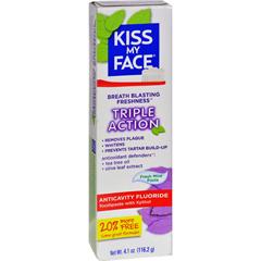 HGR1542646 - Kiss My FaceToothpaste - Triple Action - Anticvty Fluorid - Paste - 4.5 oz