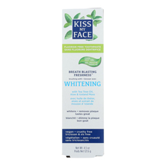 HGR1542695 - Kiss My FaceToothpaste - Whitening - Fluoride Free - Gel - 4.5 oz