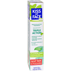 HGR1542703 - Kiss My FaceToothpaste - Triple Action - Fluoride Free - Gel - 4.5 oz