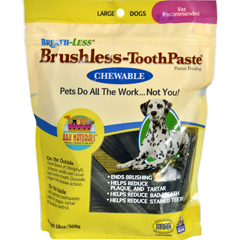 HGR1543479 - Ark NaturalsBreath-Less Brushless-ToothPaste - Chewable - Large Dogs - 18 oz