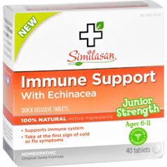 HGR1554062 - SimilasanImmune Support - Echinacea - Junior Strength - Age 6 11 - 40 ct