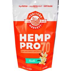 HGR1554401 - Manitoba HarvestHemp Pro 70 - Vanilla - 11 oz