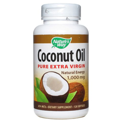 HGR1555101 - Nature's WayCoconut Oil - 1000 mg - 120 Softgels