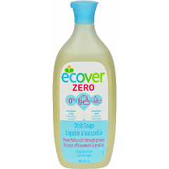 HGR1558725 - ecoverDish Soap - Liquid - Zero - Fragrance Free - 25 fl oz - 1 Case
