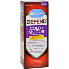 HGR1560846 - Hyland'sHylands Homepathic Cold and Mucus - Defend - 4 fl oz