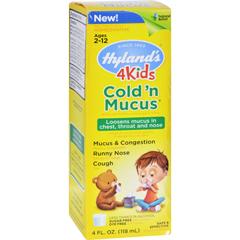 HGR1560887 - Hyland'sHomepathic Cold n Mucus - 4 Kids - 4 fl oz