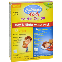 HGR1560895 - Hyland'sHomepathic Cold n Cough - 4 Kids - Day Night Val - 4 fl oz - 2 ct