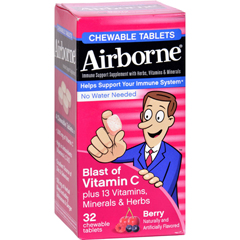 HGR1562206 - AirborneChewable Tablets with Vitamin C - Berry - 32 Tablets