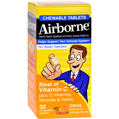 HGR1562214 - AirborneChewable Tablets with Vitamin C - Citrus - 32 Tablets