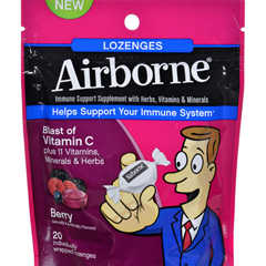 HGR1562354 - AirborneLozenges with Vitamin C - Berry - 20 Count
