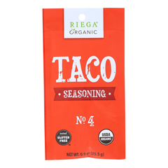 HGR1564475 - Riega Foods - Seasoning - Organic - Taco - No. 4 - .9 oz.. - case of 8