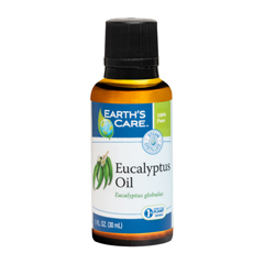 HGR1566231 - Earth's Care - Essential Oil - 100 Percent Pure - Natr - Eucalyptus - 1 fl oz