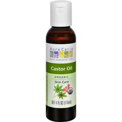 HGR1571793 - Aura CaciaSkin Care Oil - Organic Castor Oil - 4 fl oz