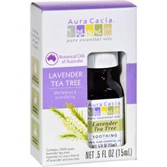 HGR1572114 - Aura CaciaEssential Oil - Pure - Lavender Tea Tree - .5 fl oz