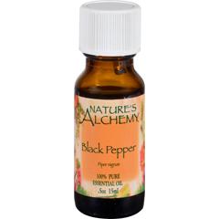HGR1572601 - Nature's AlchemyEssential Oil - Black Pepper - .5 fl oz