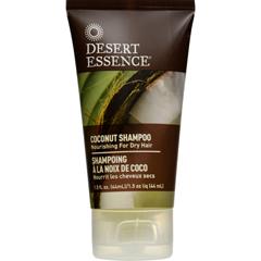 HGR1572619 - Desert EssenceShampoo - Nourishing - Coconut - Trvl - 1.5 fl oz - 1 Case