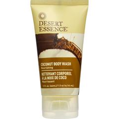 HGR1572635 - Desert EssenceBody Wash - Coconut - Travel Size - 1.5 fl oz - 1 Case