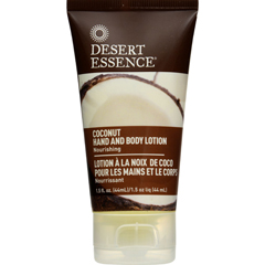 HGR1572643 - Desert EssenceHand and Body Lotion - Coconut - Travel Sz - 1.5 oz - 1 Case