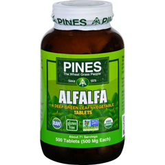 HGR1580315 - Pines InternationalAlfalfa - Organic - Tablets - 500 Tablets