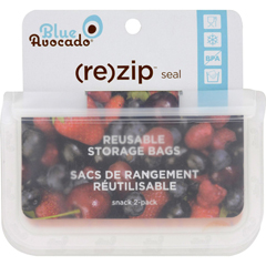 HGR1582113 - Blue Avocado(Re) Zip Seal Snack Bag - Translucent