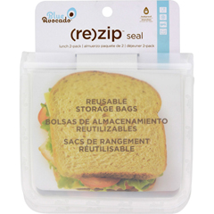 HGR1582121 - Blue Avocado(Re) Zip Seal Lunch Bag - Translucent