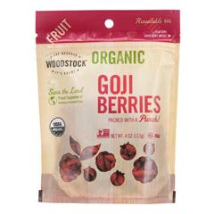 HGR1582881 - Woodstock - Organic Goji Berries - Case of 8 - 4 oz..