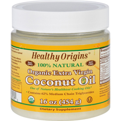 HGR1583954 - Healthy Origins - Coconut Oil - Organic - Extra Virgin - 16 oz