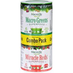 HGR1589415 - MacroLife NaturalsMacrolife Naturals Superfood - Macro Greens and Miracle Reds Combo Pack - 4 oz