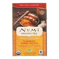 HGR1591676 - NumiTea - Organic - Turmeric - Three Roots - 12 Bags - Case of 6