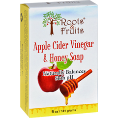 HGR1592674 - Roots and Fruits - Bar Soap - Apple Cider Vinegar and Honey - 5 oz