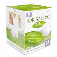 HGR1600584 - Organyc - Nursing Pads - 100 Percent Organic Cotton - 24 Count