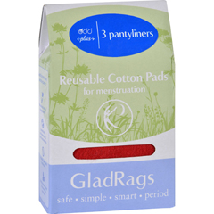 HGR1602705 - GladragsGladRags Pantyliner - Cotton - Color - 3 Pack