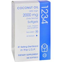 HGR1607209 - Creative BioscienceCoconut Oil 1234 - 2000 mg - 180 Softgels