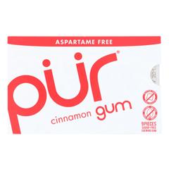 HGR1608454 - Pur Gum - Cinnamon - Aspartame Free - 9 Pieces - 12.6 g - Case of 12